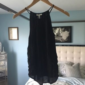 EUC Joie XS Black High Neck Tank Top 100% Silk